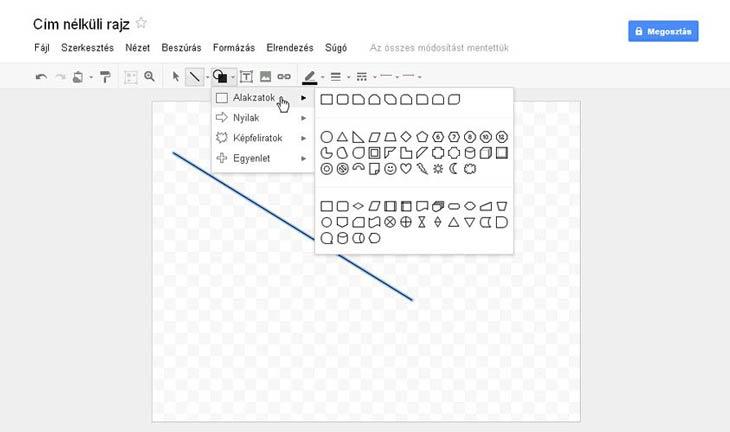 Google Dokumentumok rajzoló