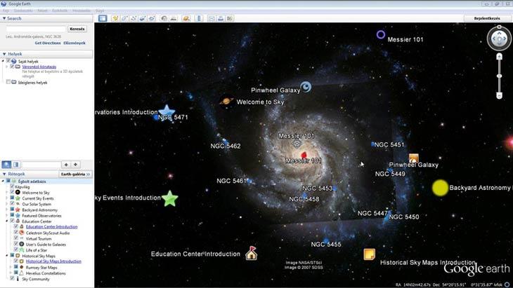 Google Föld égbolt
