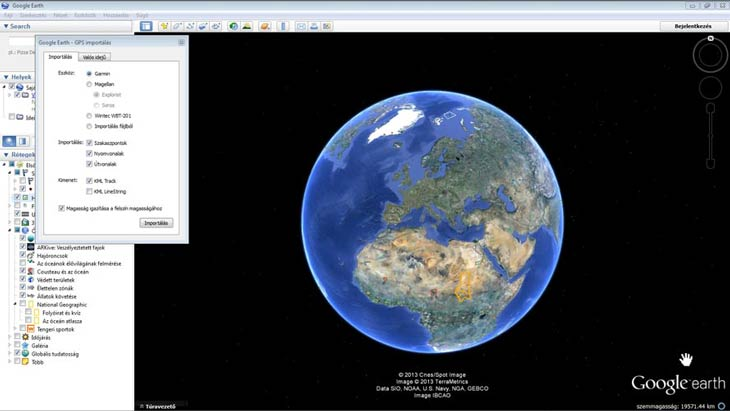Google Föld GPS