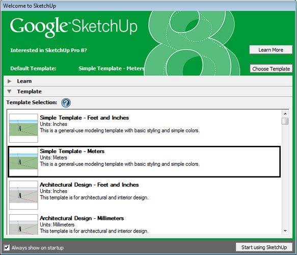 Google SketchUp template