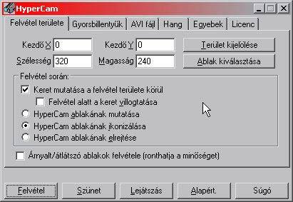 HyperCam felvétel magyar