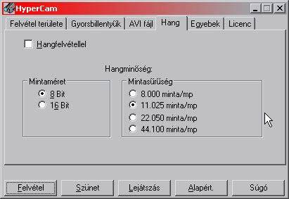 HyperCam hang magyar