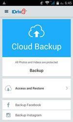 IDrive Facebook és Instagram backup