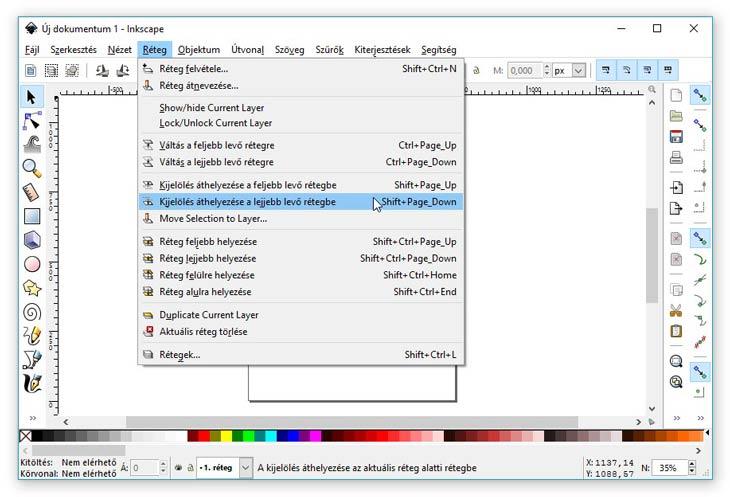 Inkscape rétegek