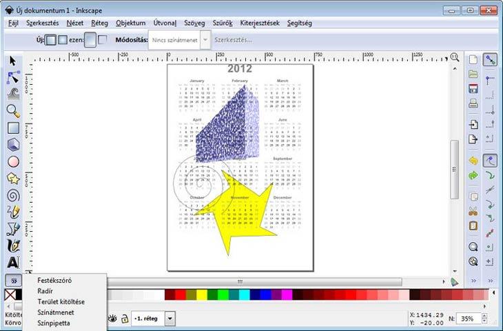 Inkscape képszerkesztő, rajzoló