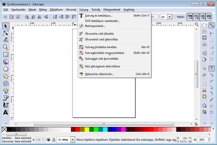Inkscape szövegek