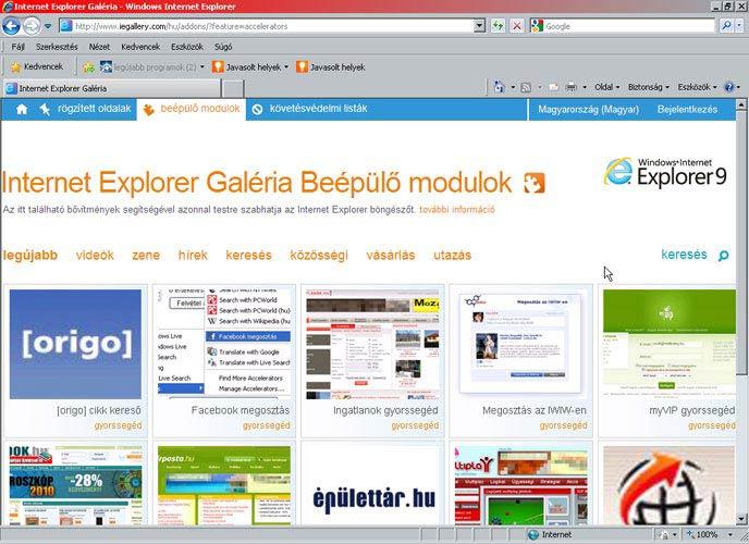 Internet Explorer 8 galéria