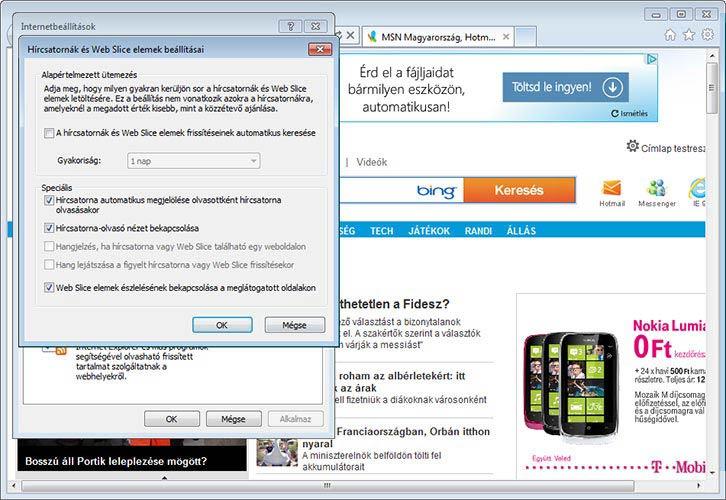 Internet Explorer 9 hírek