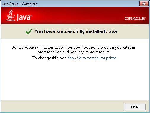 Java JRE kész
