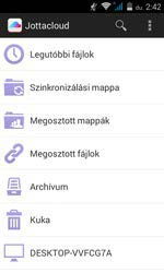 Jottacloud Androidon, fájljaink helyei
