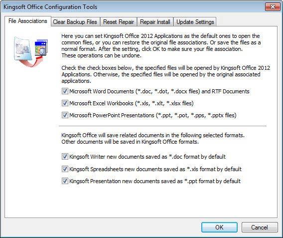 Kingsoft Office Suite Free 2012 beállítás