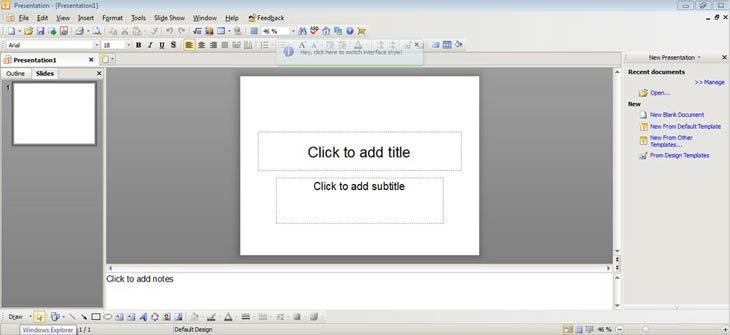 Kingsoft Office Suite Free 2012 Presentation