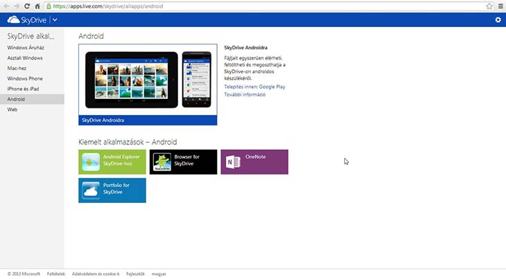 SkyDrive Android