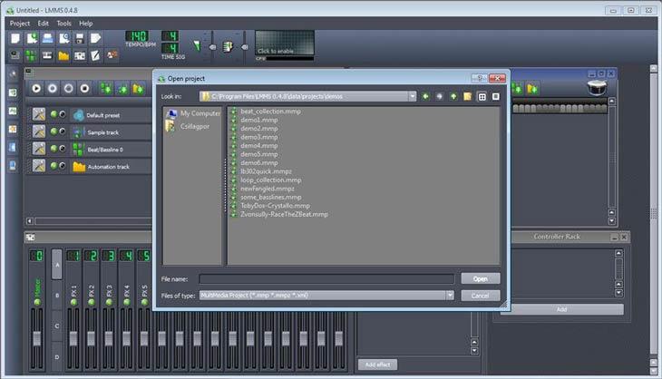 LMMS – Linux MultiMedia Studio projekt