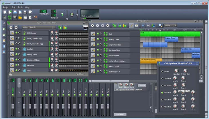 LMMS – Linux MultiMedia Studio Calf Equalizer