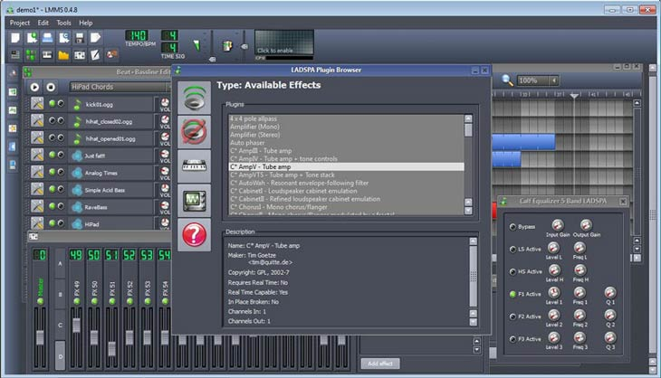 LMMS – Linux MultiMedia Studio LADSPA