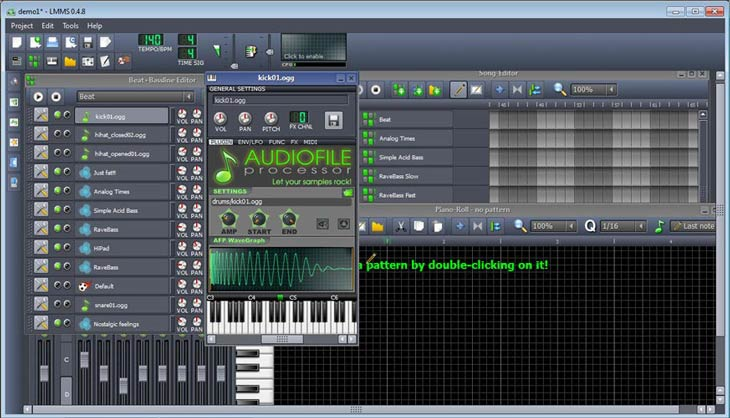 LMMS – Linux MultiMedia Studio hangminta