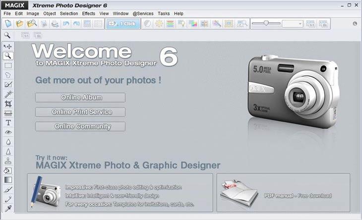 MAGIX Xtreme Photo Designer fénykép szerkesztő