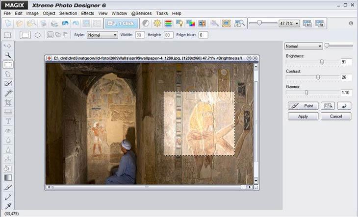 MAGIX Xtreme Photo Designer világosítás