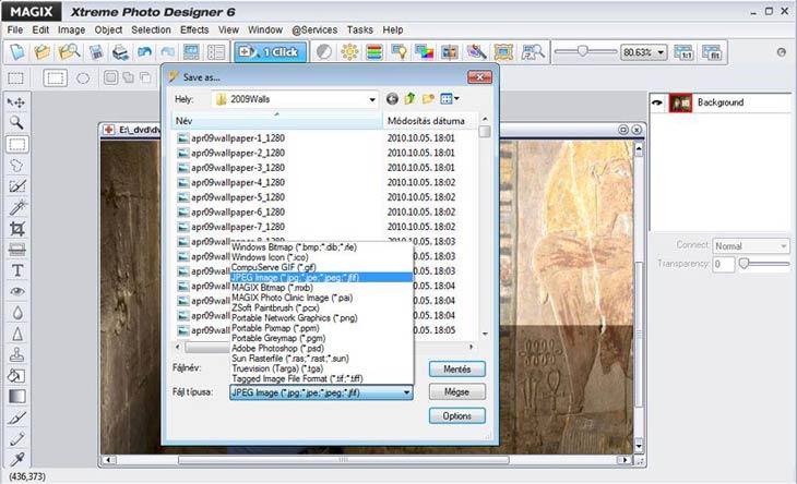 MAGIX Xtreme Photo Designer kép típusok