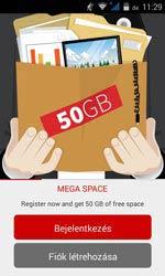 Androidon kínálja az 50 GB mega space-t