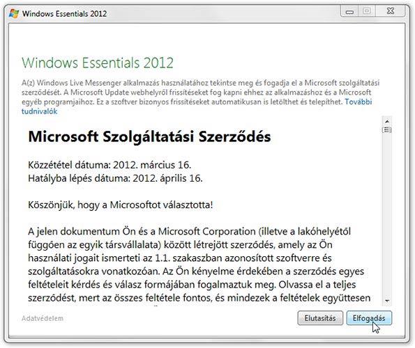 Microsoft Essentials szerződés
