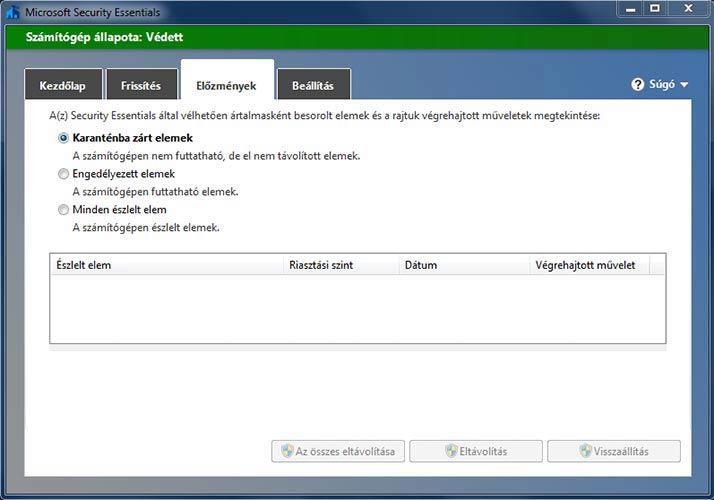 Microsoft Security Essentials előzmények