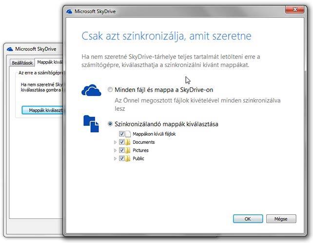SkyDrive szinkronizálás