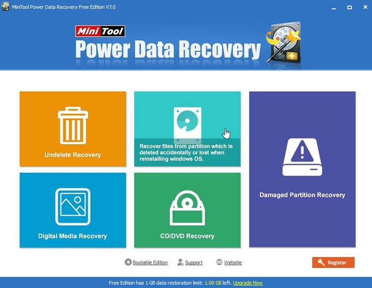 Power Data Recovery lehetőségek
