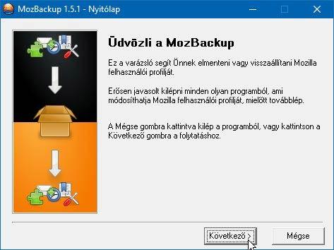 MozBackup telepítés