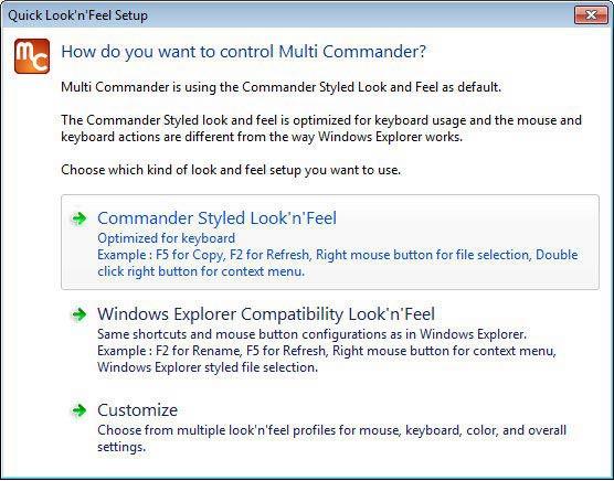 Multi Commander kinézet beállításai