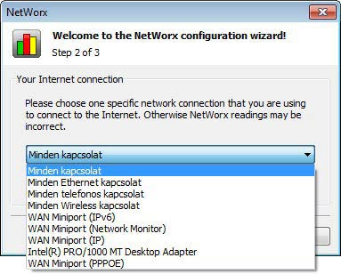 NetWorx telepítés