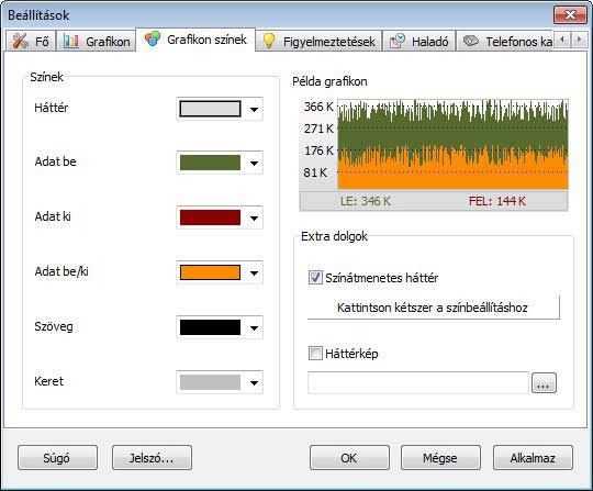 NetWorx színek