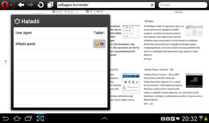 Opera Mobile User Agent