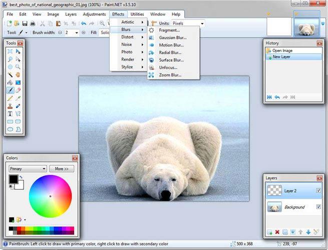 Paint.NET hatások