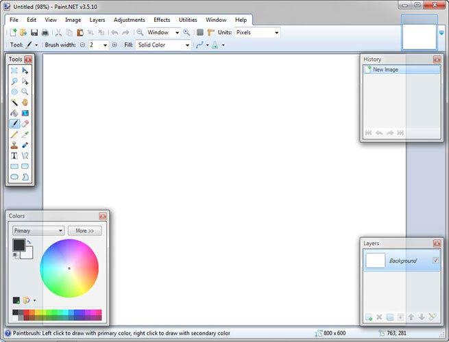 Paint.NET képszerkesztő