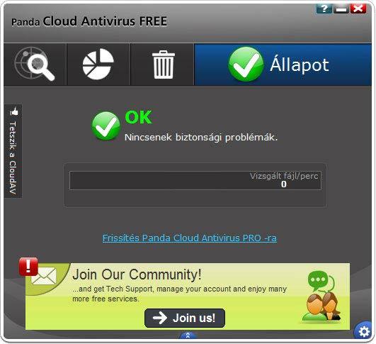 Panda Cloud Antivirus közösség