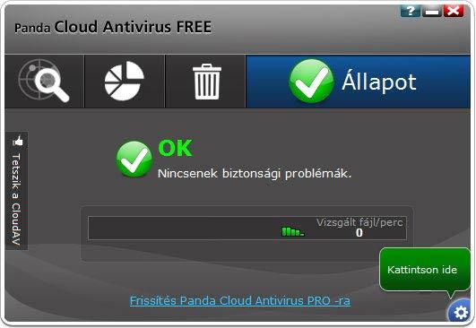 Panda Cloud Antivirus beállítások