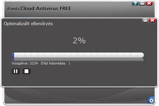 Panda Cloud Antivirus ellenőrzés