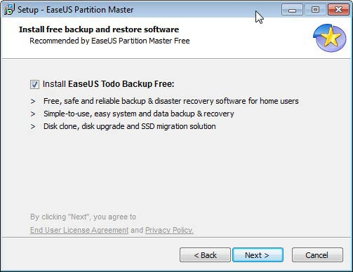 Partition Master Todo backup