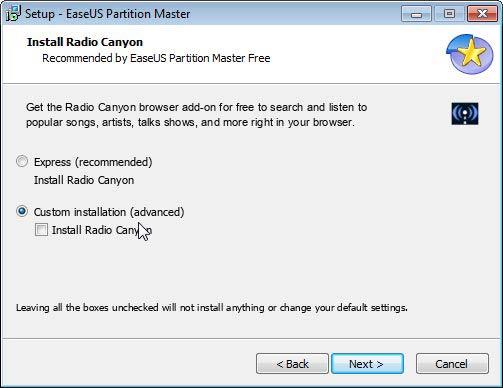 Partition Master  Radio