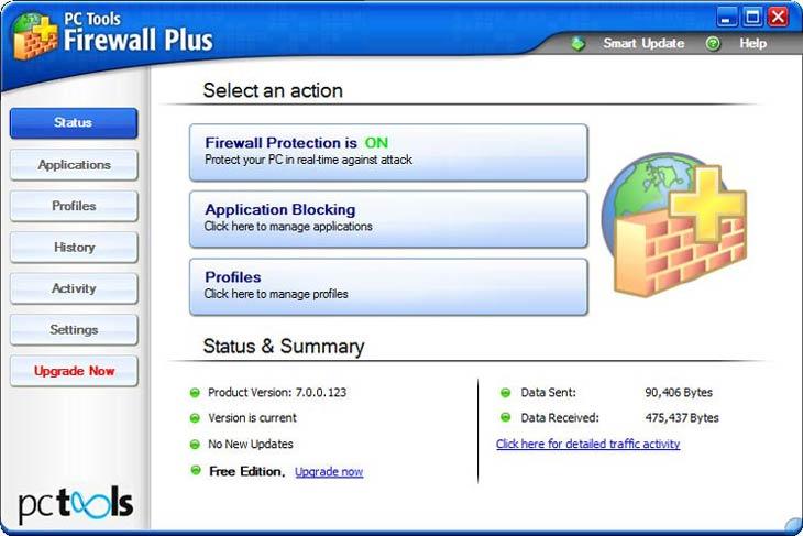 PC Tools Firewall Plus - valósidejű védelem