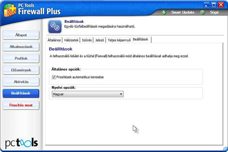 PC Tools Firewall Plus magyarul