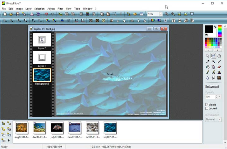 PhotoFiltre rétegek, Windows 10