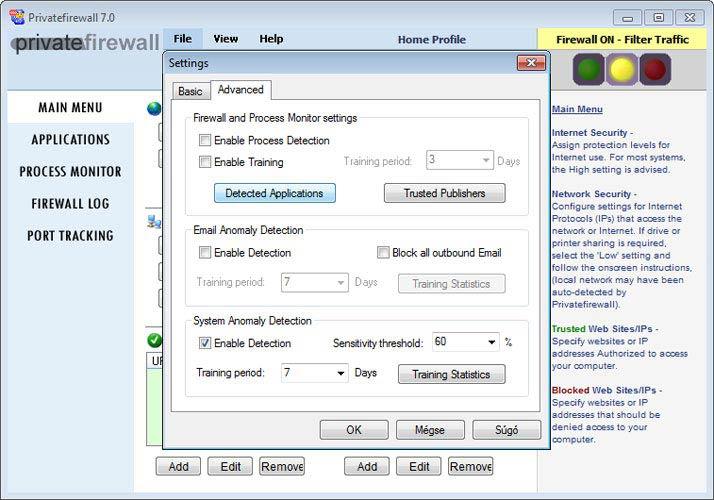 Privatefirewall, alkalmazások