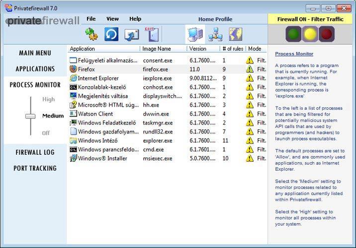 Privatefirewall Process Monitor