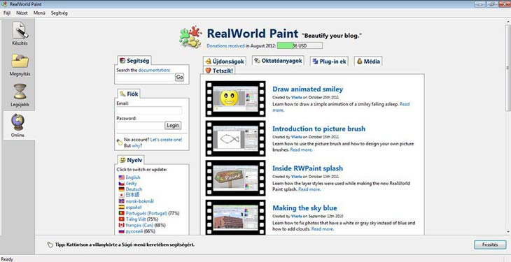RealWorld Paint internet
