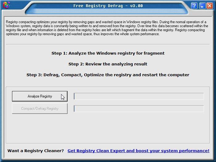 Registry Defrag telepítés kész