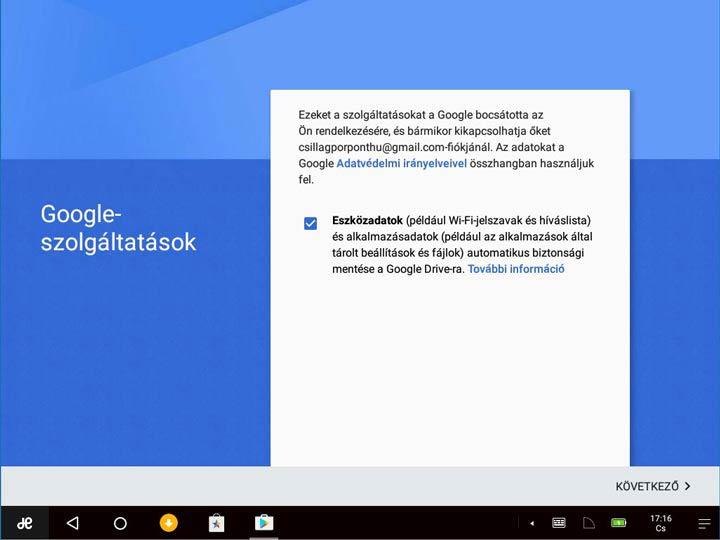 Remix OS 3 Google szolgáltatások