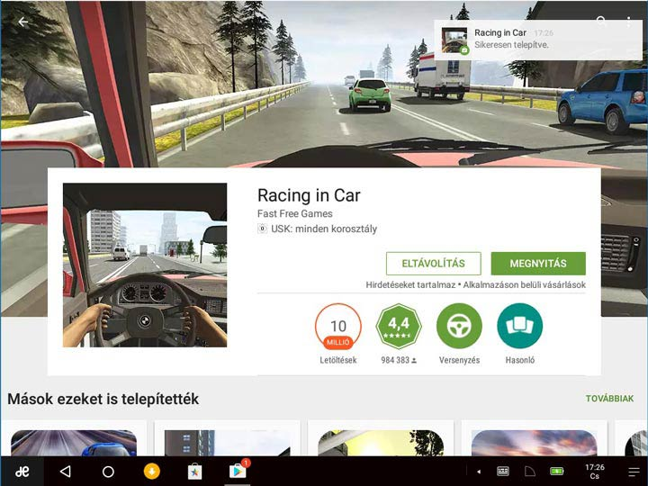 Remix OS 3 Racing in Car